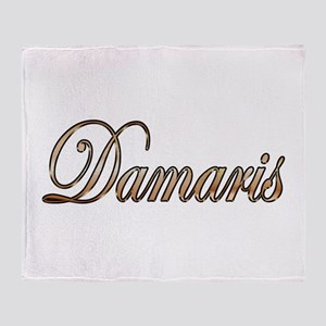 Gold Damaris Throw Blanket